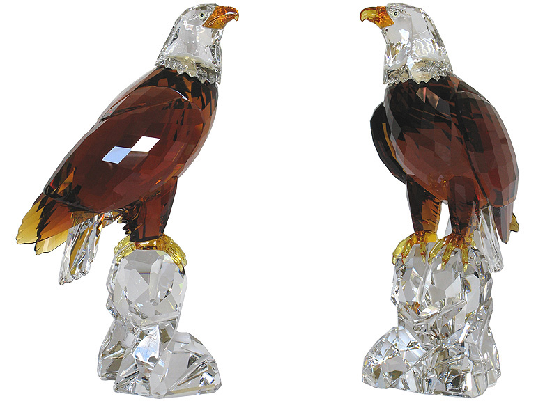 680902edc The Bald Eagle Heinz Tabertshofer, designer 11 1/4 x 6 1/2 inches (h x w)  28.6 x 16.5 cm (h x w). Swarovski Numbered Limited Edition 2011